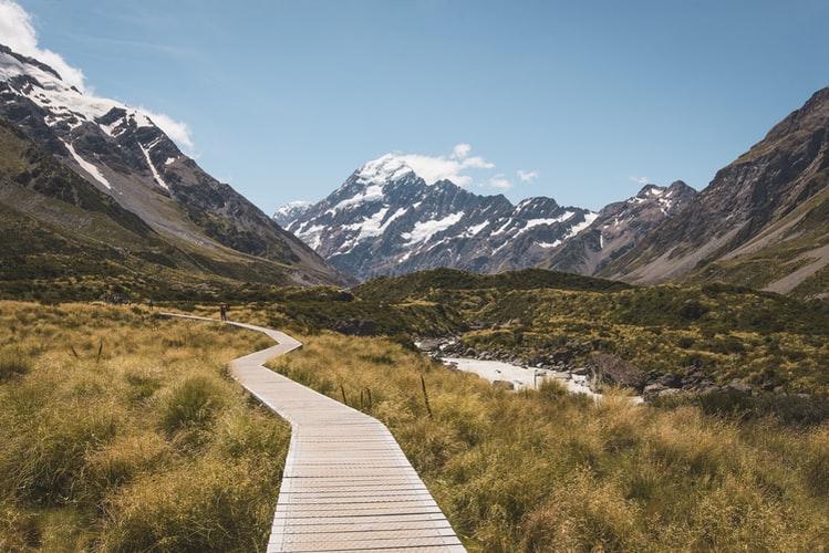 mountain walking path